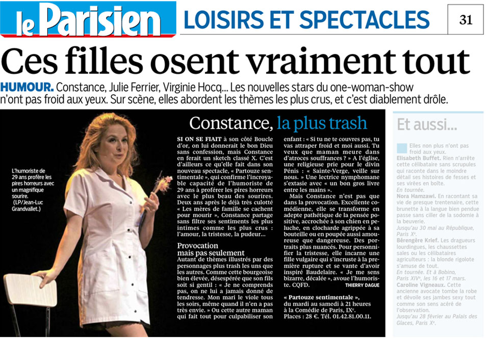 Constance, La plus trash